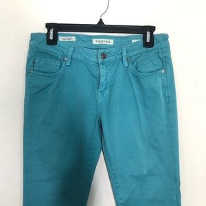 Vigoss Jeans - Vigoss The Jagger Super Skinny Jean in teal